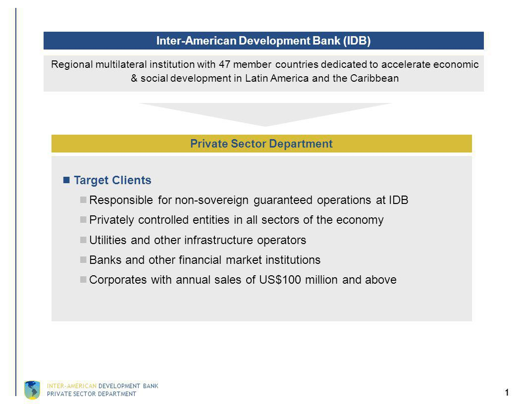 IDB's Competitive Advantages