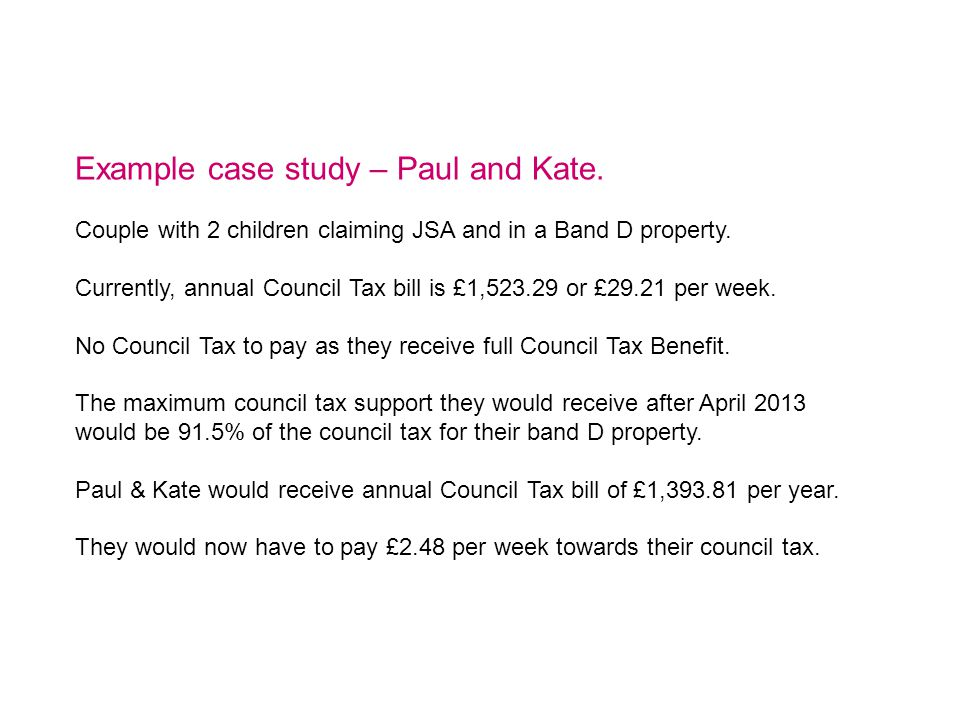 Example case study – Paul and Kate.