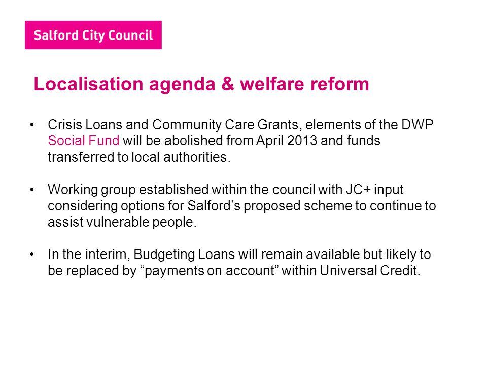 Localisation agenda & welfare reform