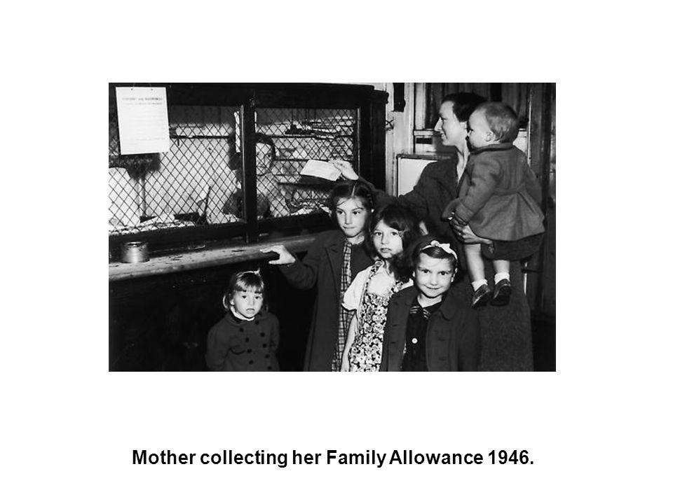 Mother collecting her Family Allowance 1946.