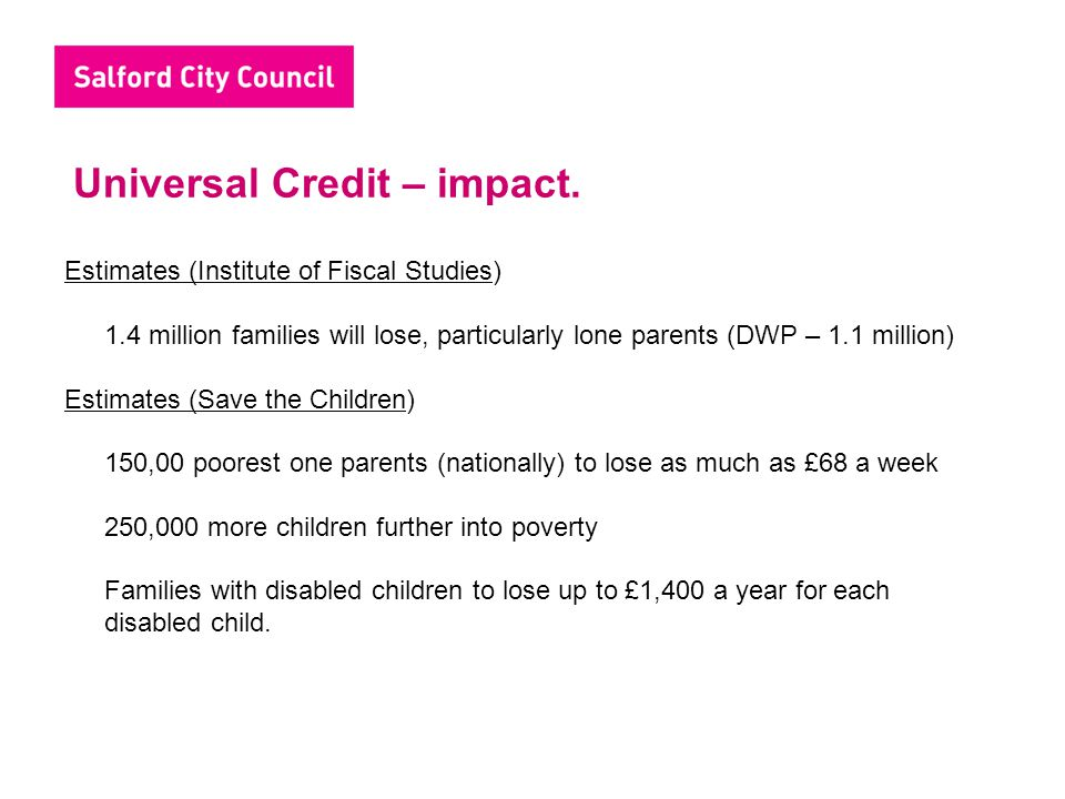 Universal Credit – impact.