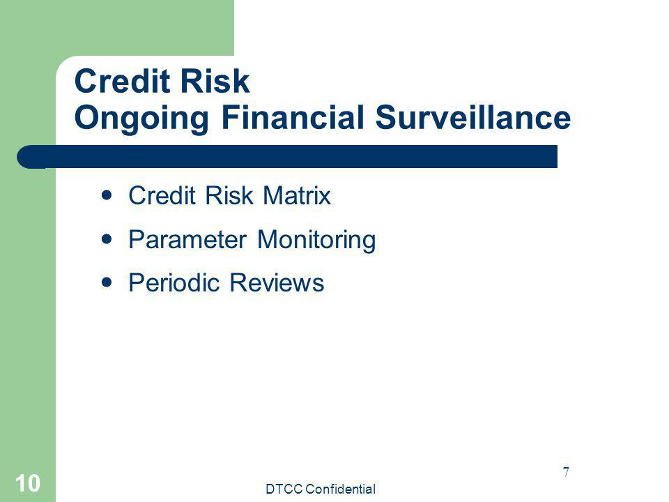 Credit Risk Ongoing Financial Surveillance