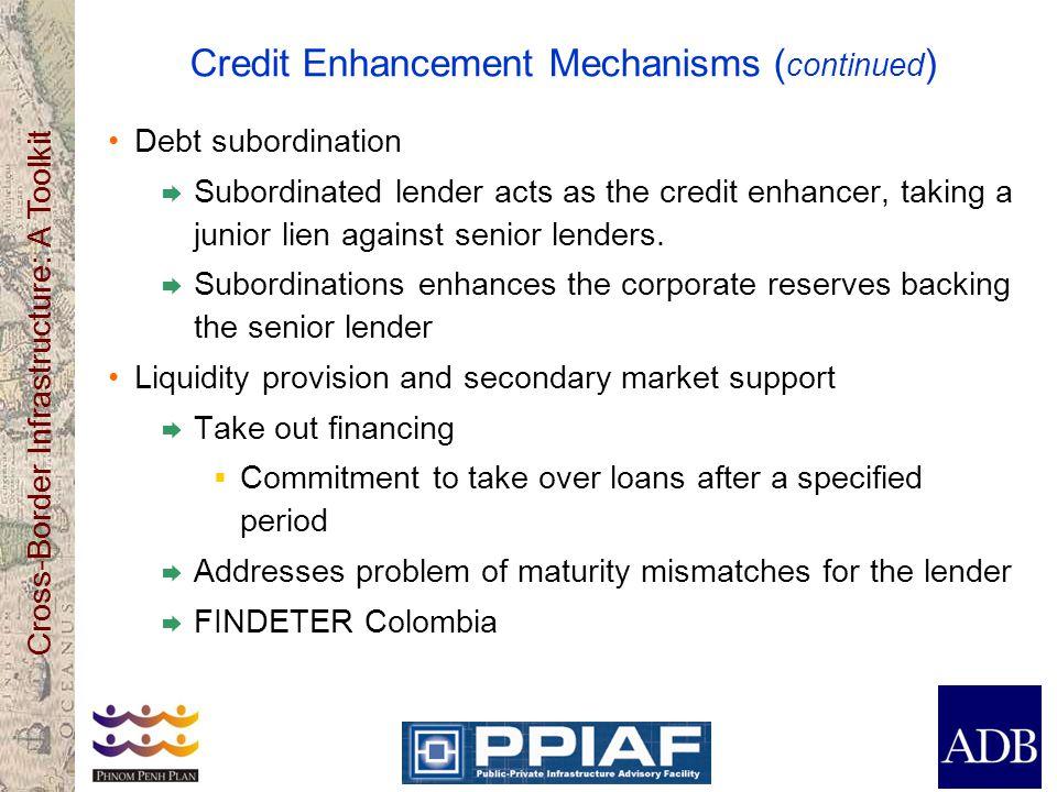 Credit Enhancement Mechanisms (continued)