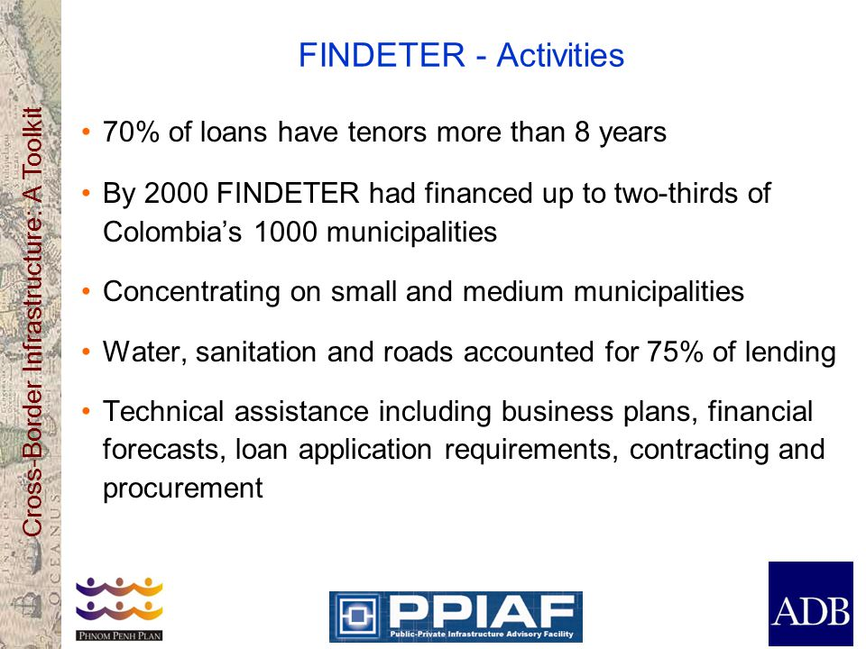 FINDETER - Activities 70% of loans have tenors more than 8 years