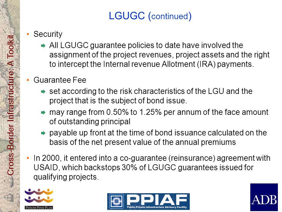 LGUGC (continued) Security