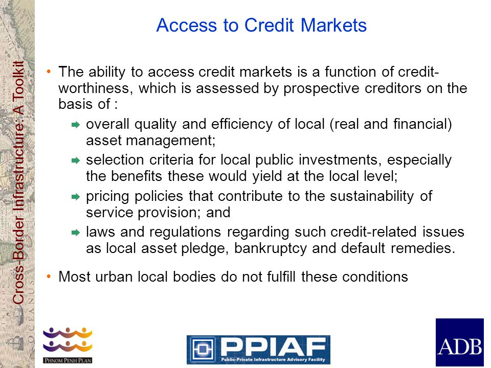 Access to Credit Markets