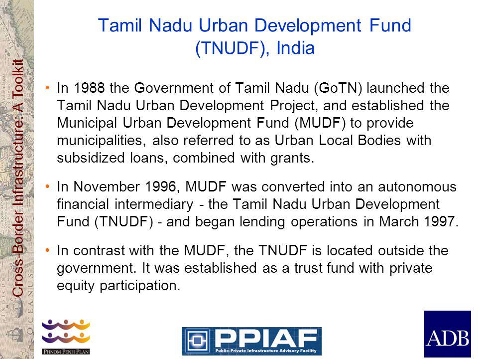 Tamil Nadu Urban Development Fund (TNUDF), India