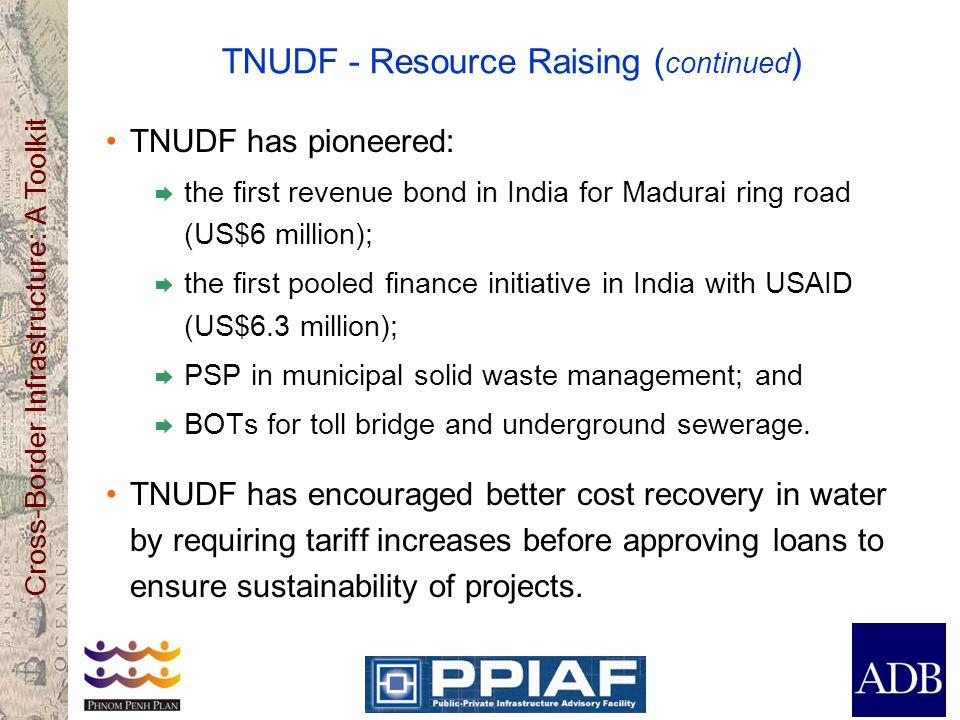 TNUDF - Resource Raising (continued)