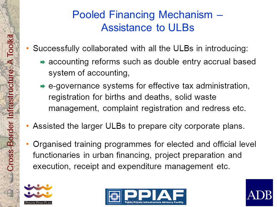 Pooled Financing Mechanism – Assistance to ULBs