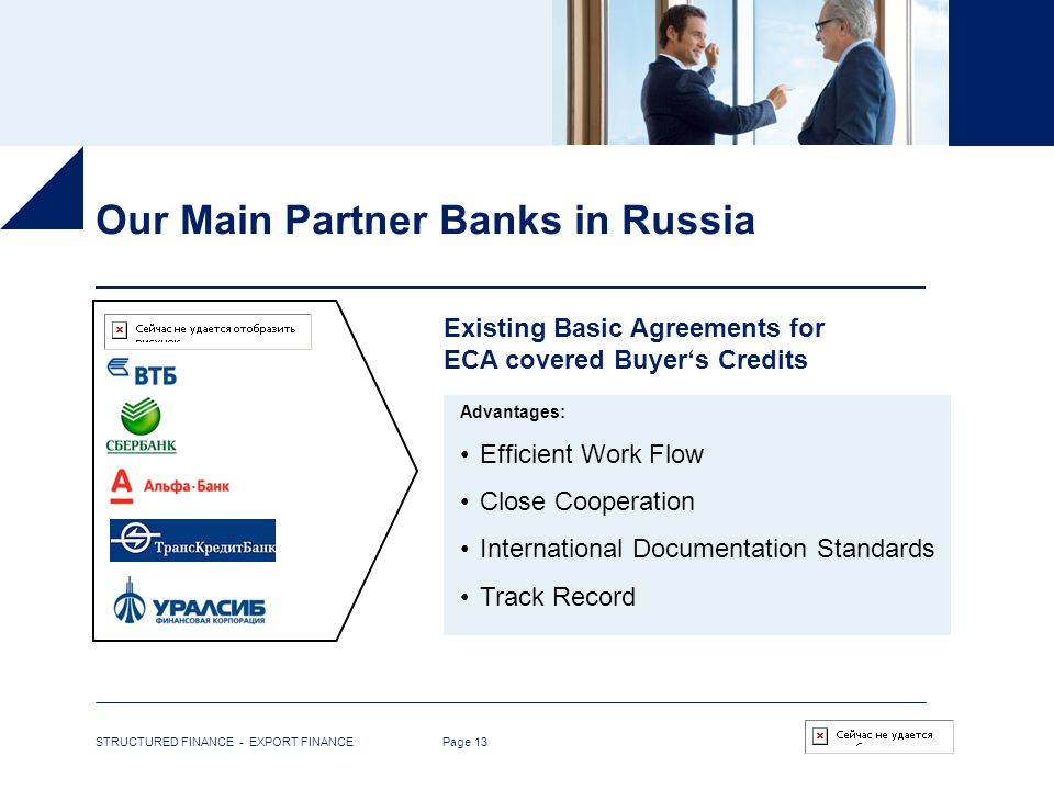Our Main Partner Banks in Russia