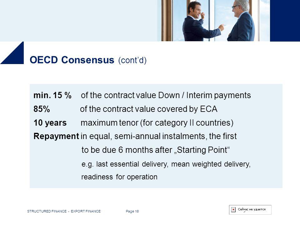 OECD Consensus (cont'd)