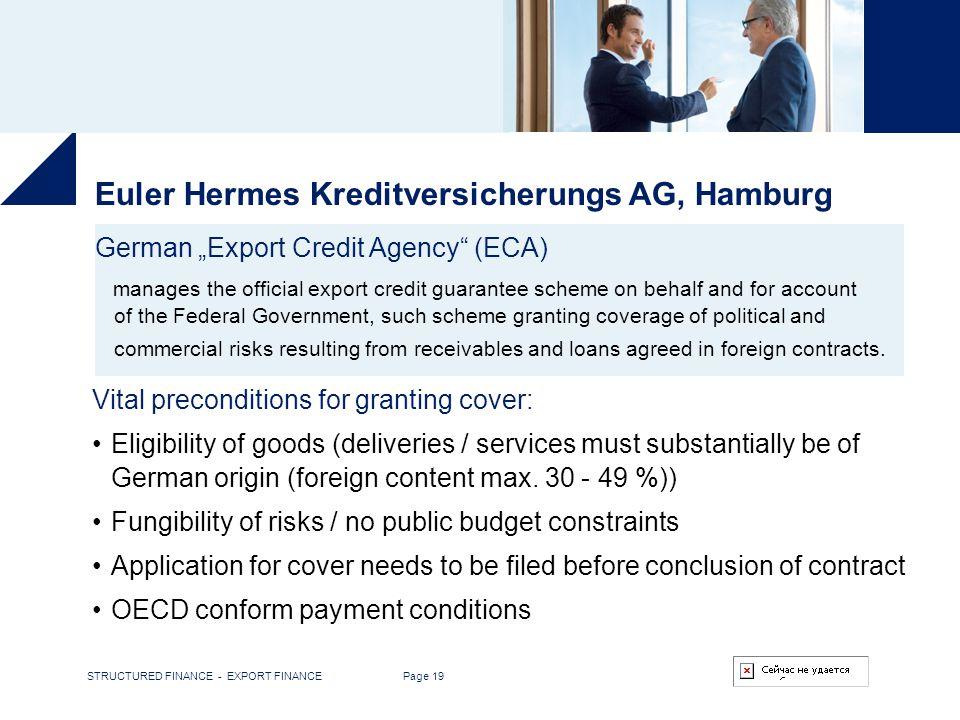 Euler Hermes Kreditversicherungs AG, Hamburg