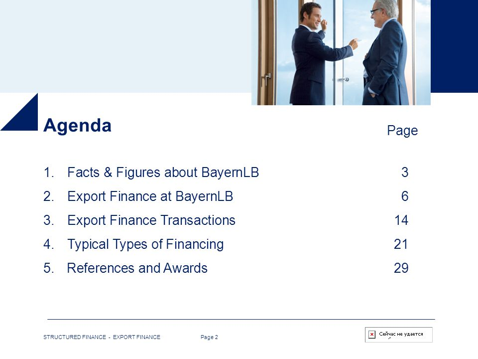Agenda Page Facts & Figures about BayernLB 3