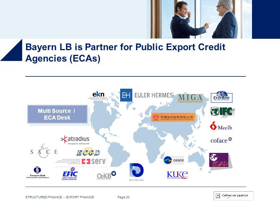 Bayern LB is Partner for Public Export Credit Agencies (ECAs)