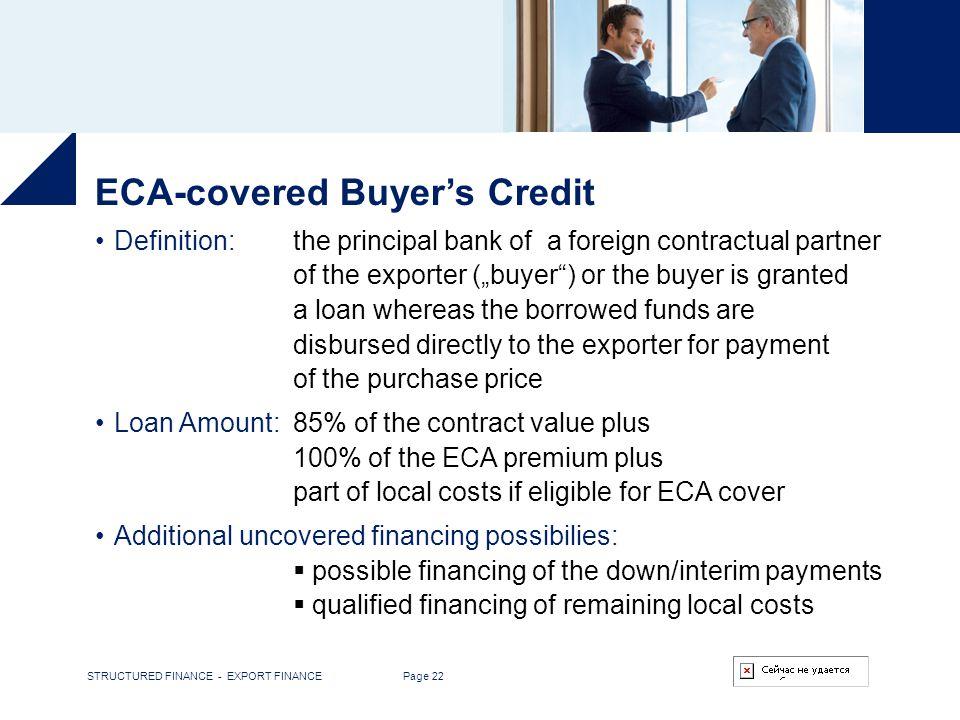 ECA-covered Buyer's Credit