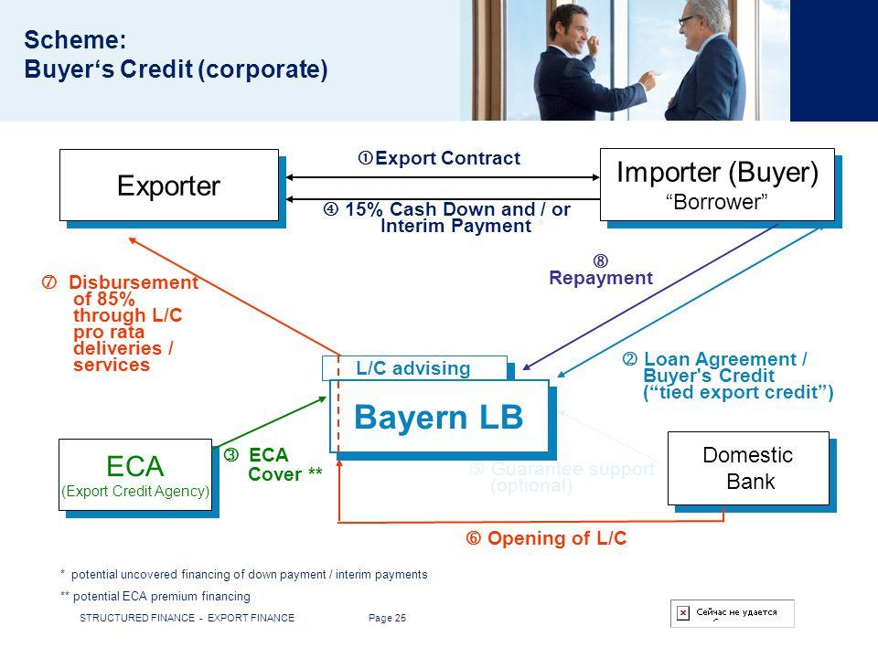 Scheme: Buyer's Credit (corporate)
