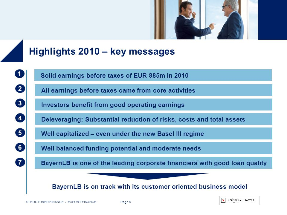 Highlights 2010 – key messages
