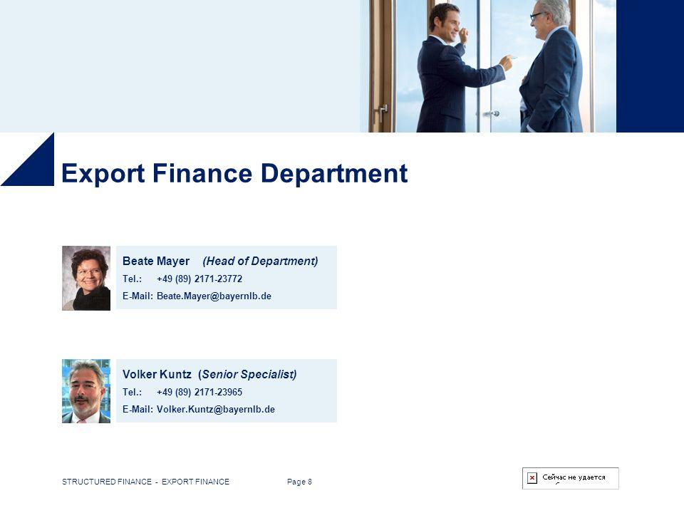 Export Finance Department