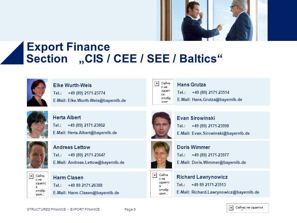 Export Finance The Team The Team The Team