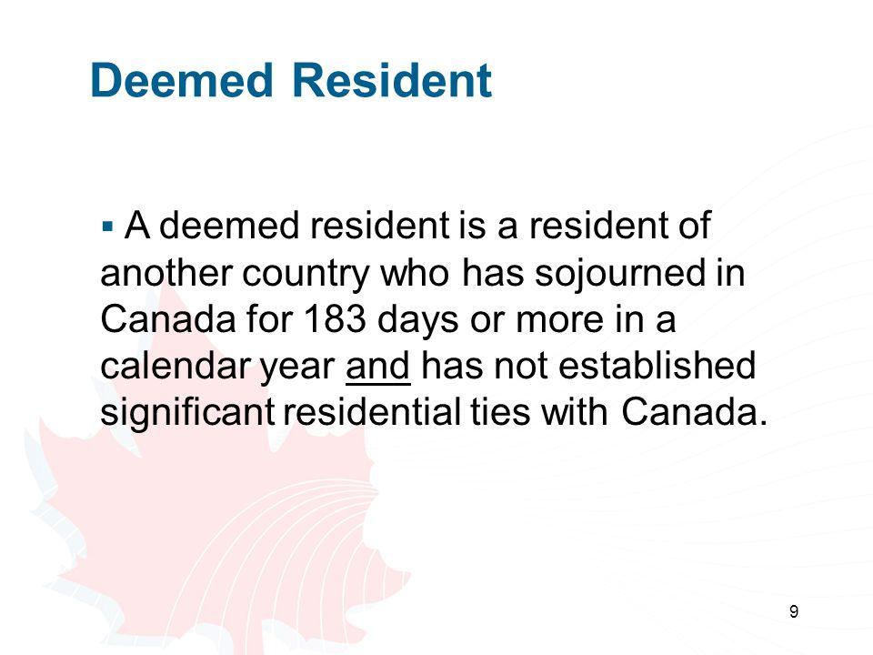 Deemed Resident