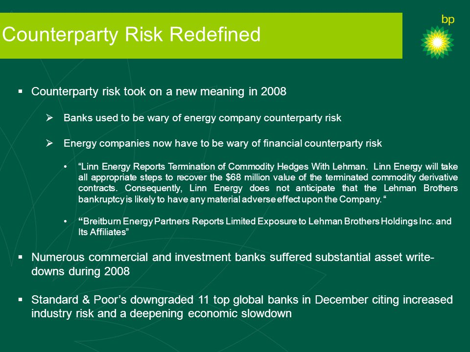 Counterparty Risk Redefined