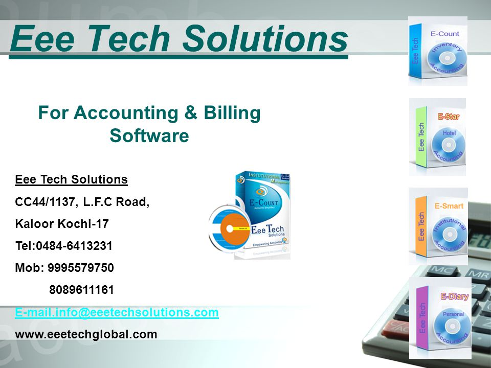 For Accounting & Billing Software