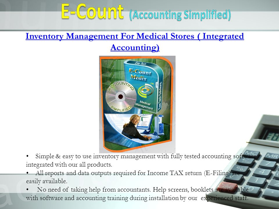 Inventory Management For Medical Stores ( Integrated Accounting)