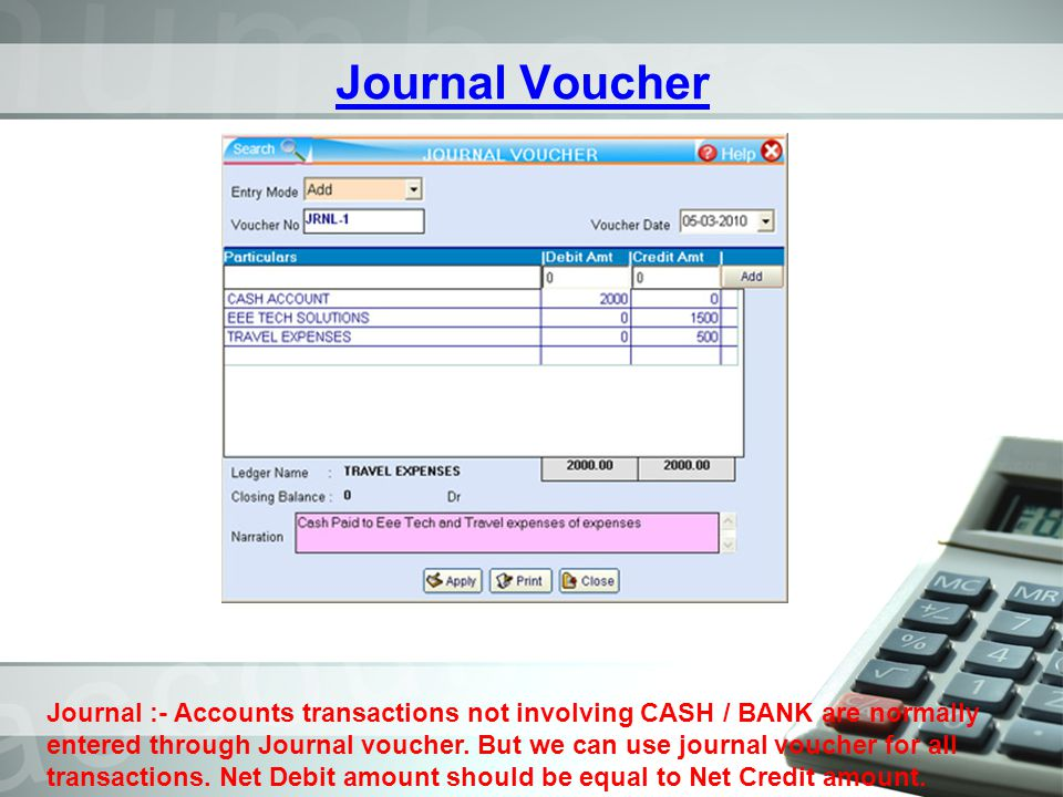 Journal Voucher