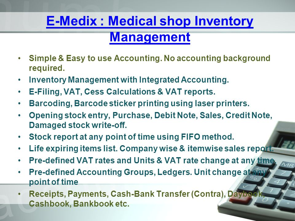 E-Medix : Medical shop Inventory Management