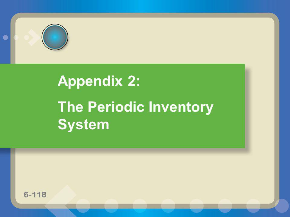 The Periodic Inventory System