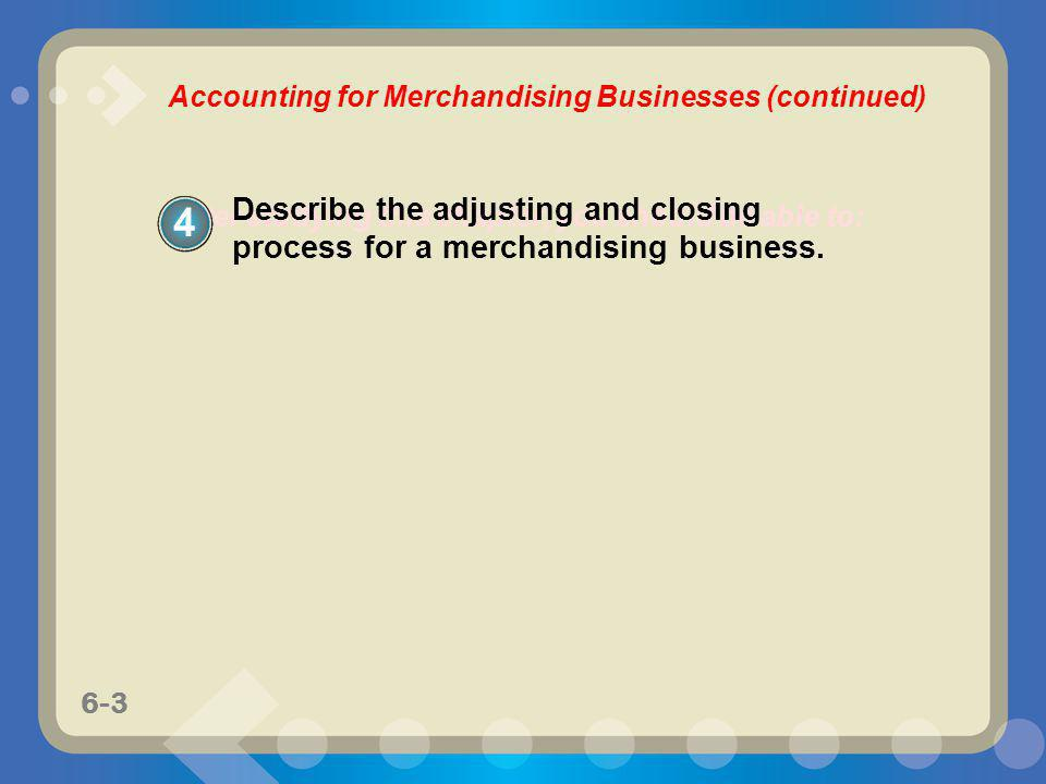 Accounting for Merchandising Businesses (continued)