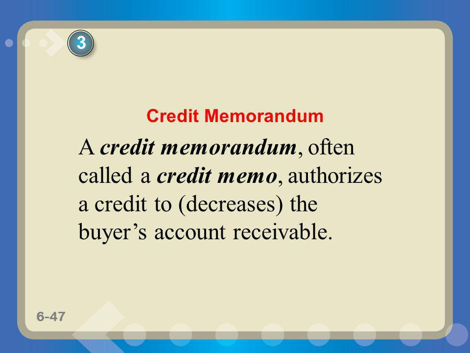 3 Credit Memorandum.