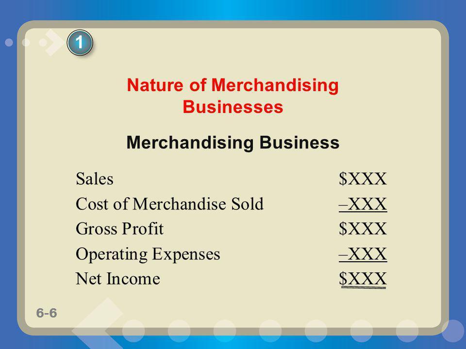 Nature of Merchandising Businesses Merchandising Business