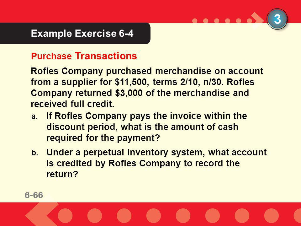 3 Example Exercise 6-4 Purchase Transactions