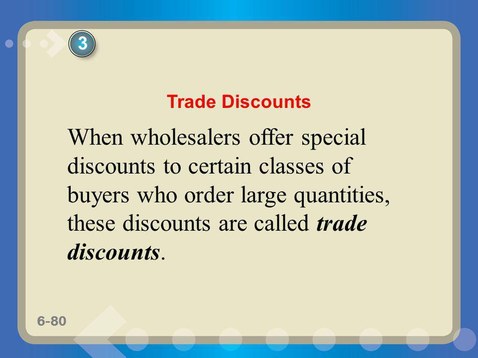 3 Trade Discounts.