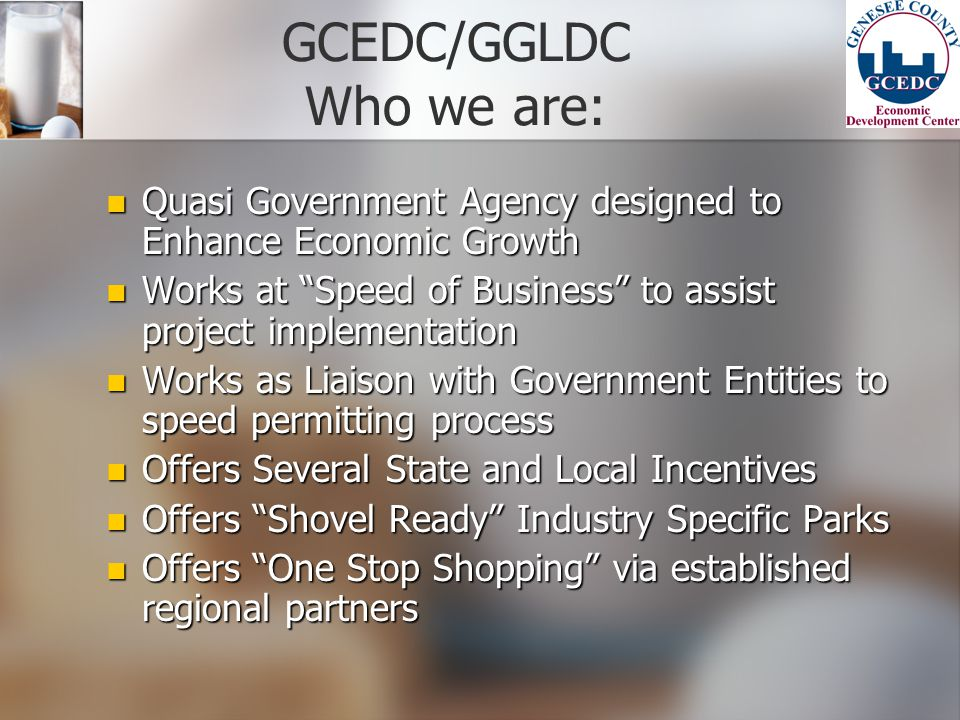 GCEDC/GGLDC Who we are: