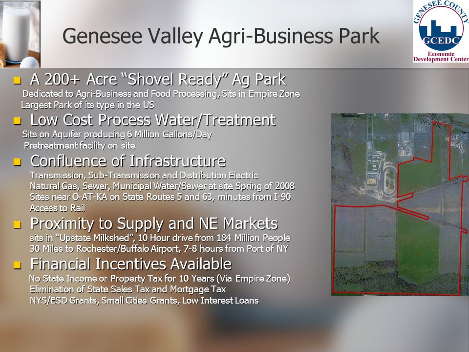 Genesee Valley Agri-Business Park