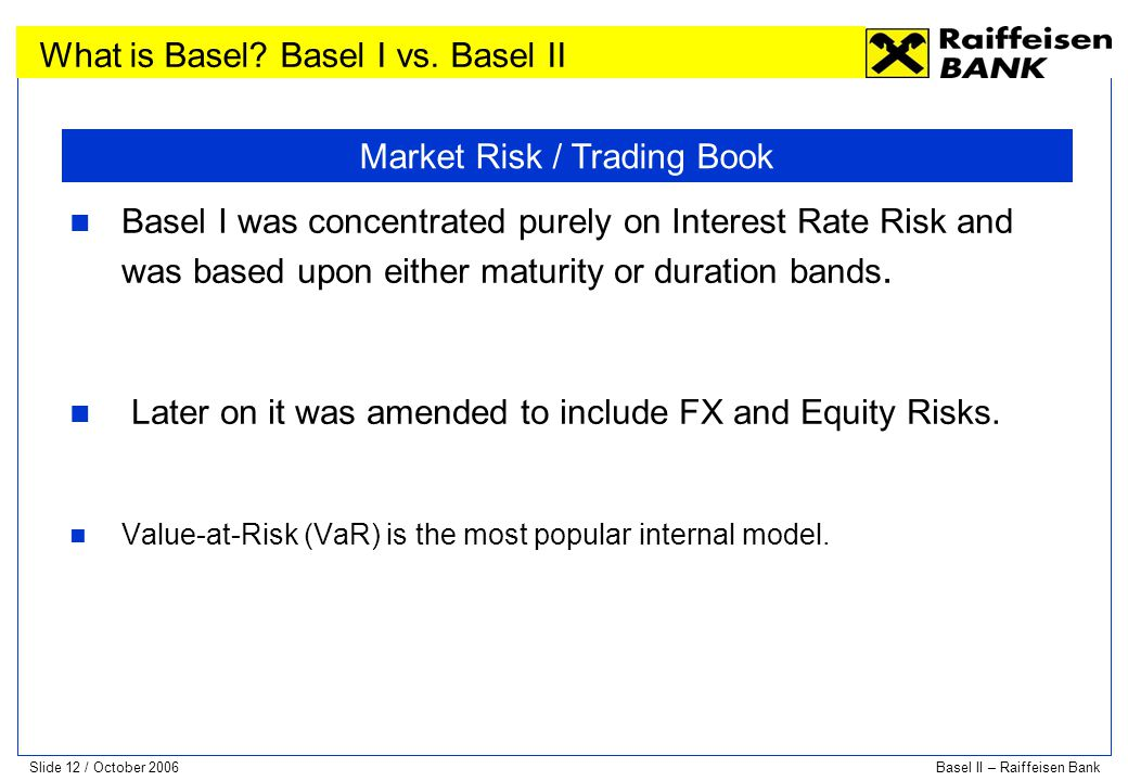 Market Risk / Trading Book