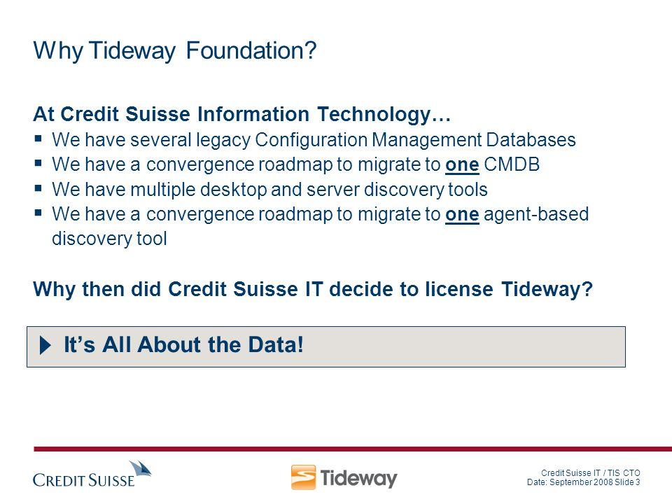 Why Tideway Foundation