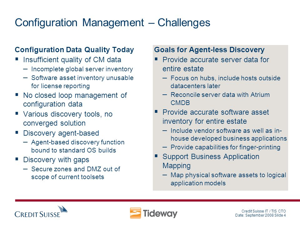 Configuration Management – Challenges