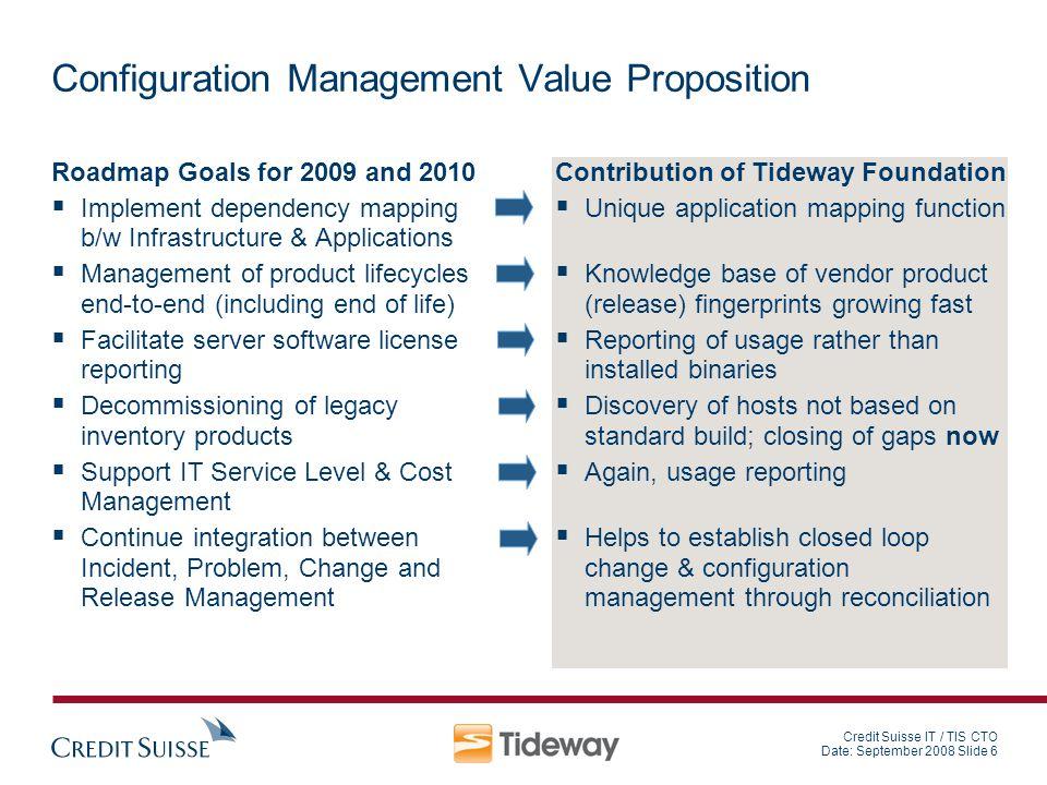 Configuration Management Value Proposition