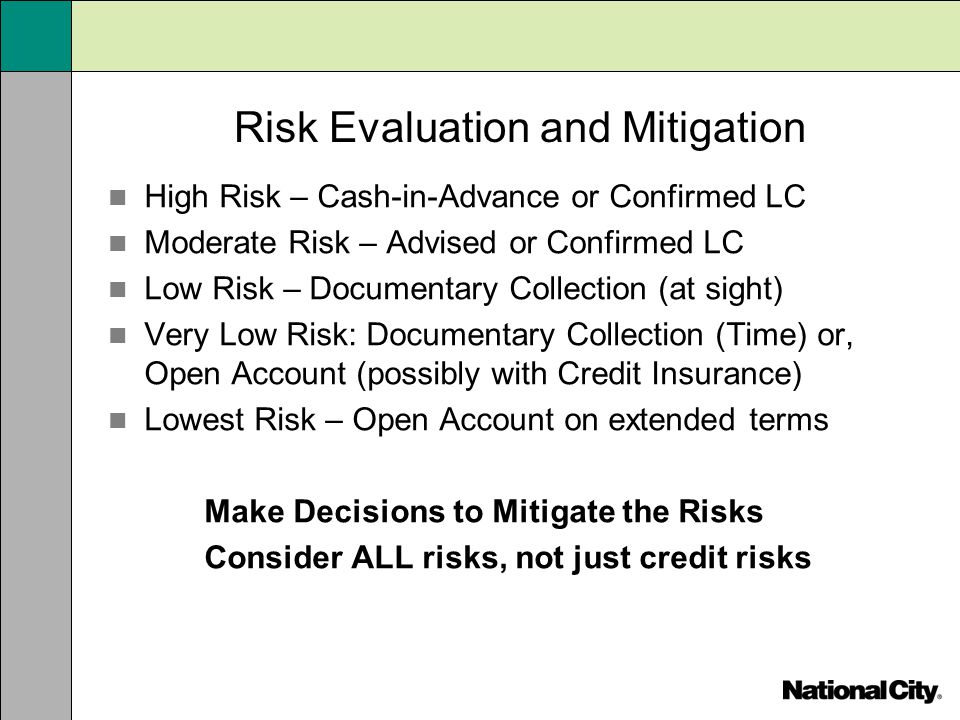 how to mitigate credit risk for Risk mitigation methods in the eurosystem's credit operations.