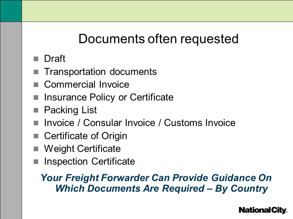 Documents often requested