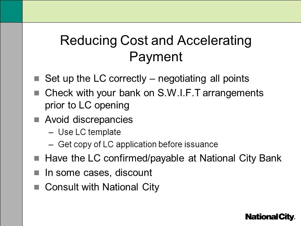 Reducing Cost and Accelerating Payment