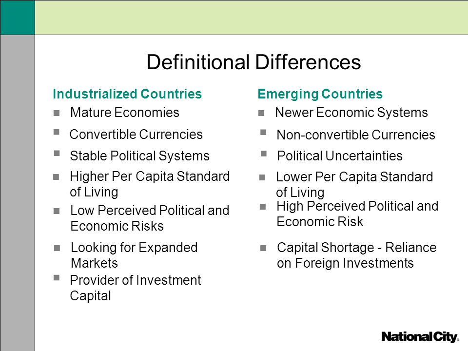Definitional Differences