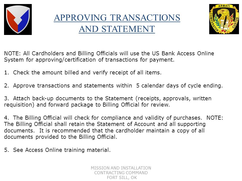 APPROVING TRANSACTIONS AND STATEMENT