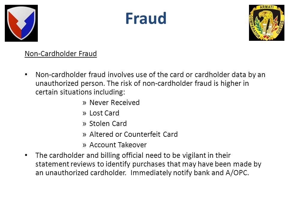 Fraud Non-Cardholder Fraud