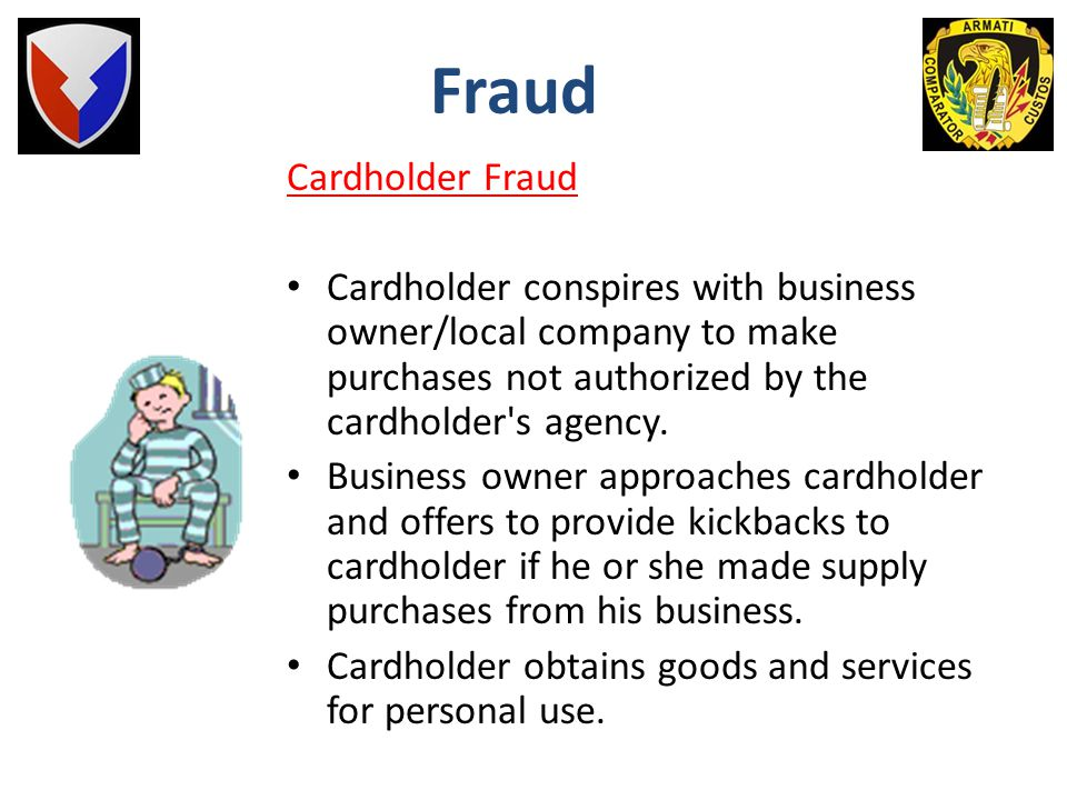 Fraud Cardholder Fraud