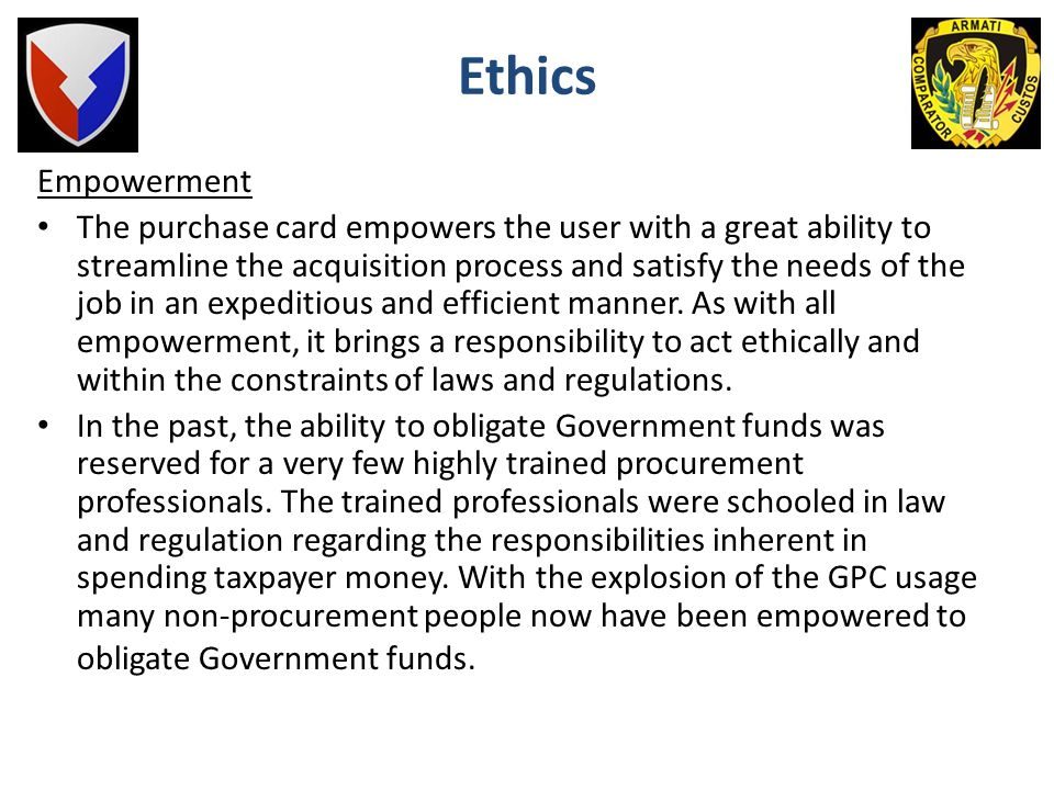 Ethics Empowerment.
