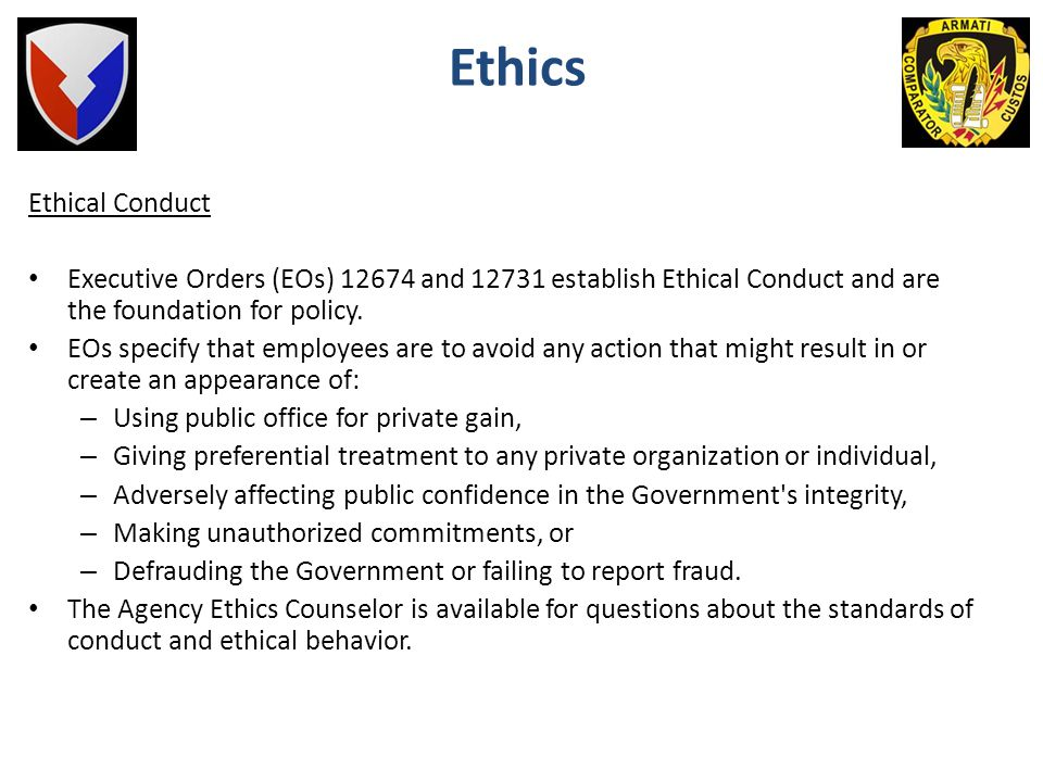 Ethics Ethical Conduct